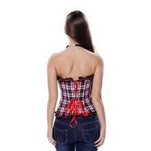 Women's Plaid Overbust Corset