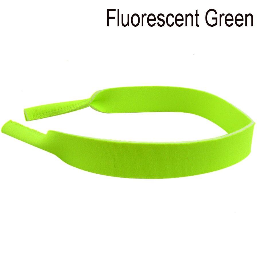 Хорошее качество взрослых очки неопрена Эластичный Спортивный ремешок шнур держатель 38 см 10 шт./лот - Цвет: Fluorescent greeen