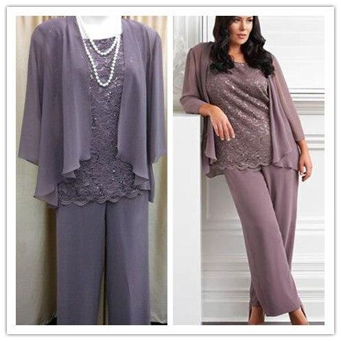 Popular Plus Size Pant Suits Mother of The Bride-Buy Cheap Plus ...