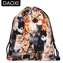 DAOXI 3D Printed font b Drawstring b font font b Bags b font Animal Pattern Cute