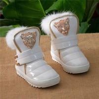Kids Shoes Children Fashion New Boots Thicken The Girls Really Rabbit Plush Warm Leopard Baby Snow