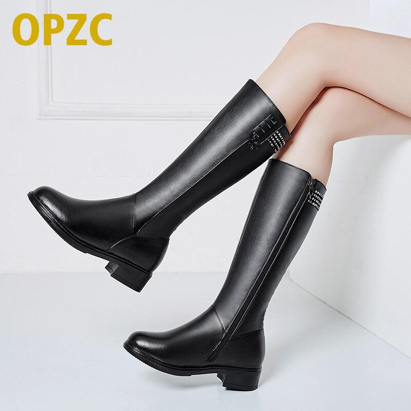 נשים חורף מגפיים. עור אמיתי נשי מגפיים. עקב נשים מגפיים ארוכים. צמר מרופד חם שלג מגפי ליידי אופנה נעליים