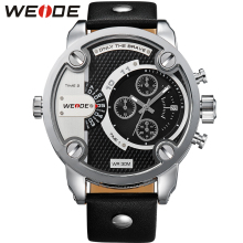 weide genuine men's belt clock watch luxury in quartz men sports  watches  leather strap in watchbands  water resistant weide clock luxury quartz watches men white sports electronic watch leather strap watchbands mehanical hand wind water resistant
