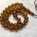 Top Selling Tasbih 33 beads Imitation  Amber 10mm Round Shape Champagne color Prayer Beads  Allah Prayer Rosary Free shipping