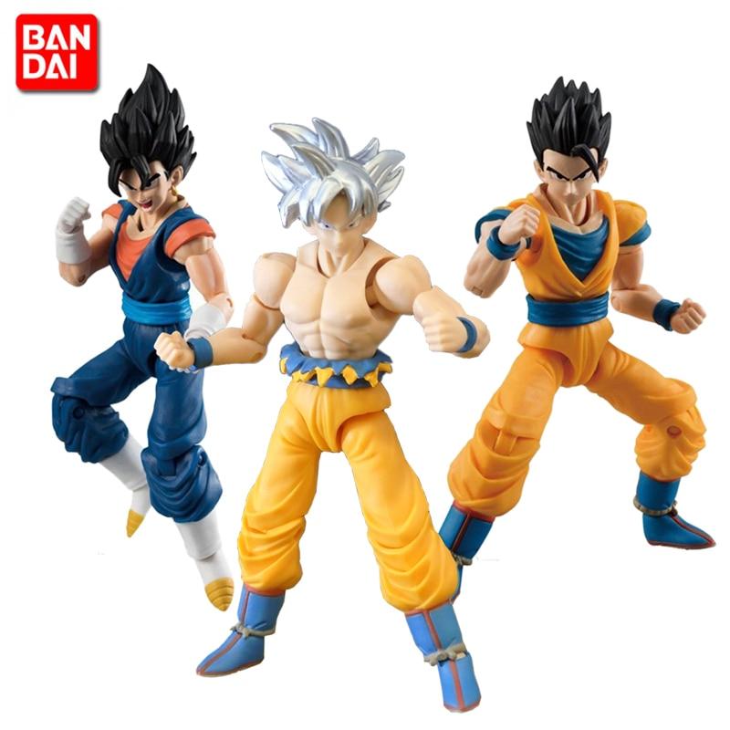 100% Original BANDAI SHODO Vol.6 Action Figure - Son Goku Ultra Instinct & Gohan & Vegetto (9cm tall) from