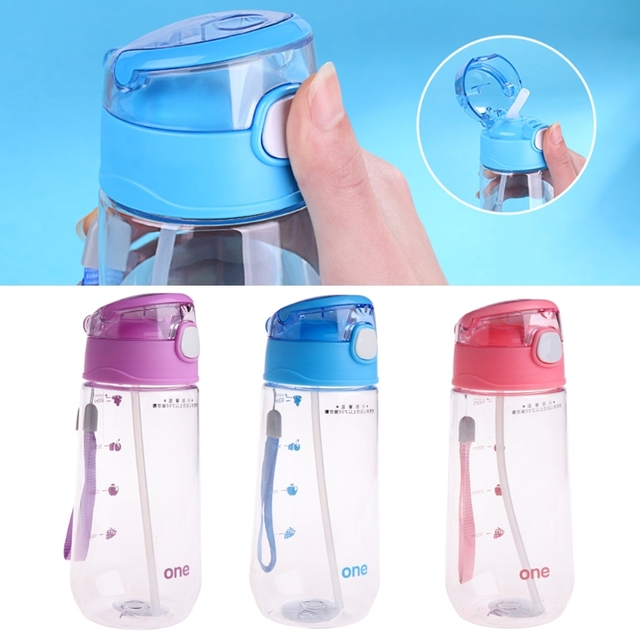 500ML Children With Straw Cups Baby Kids Children Portable Feeding Drinking Water Bottle Cup With Straw  1