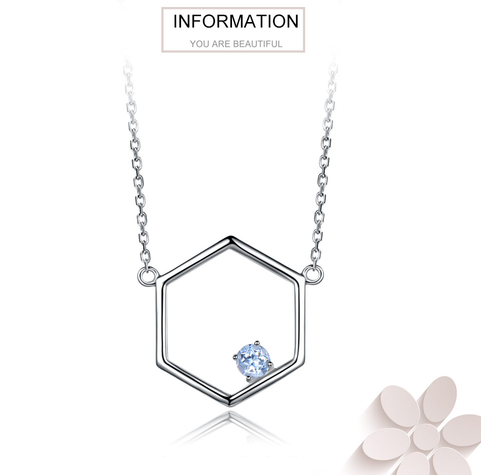 925 Sterling Silver Natural Blue Topaz Necklaces (1)