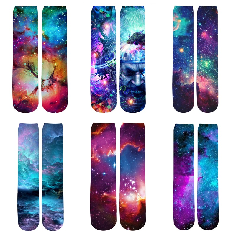 Herbst Universum Landschaft Socken 3d Volle Druck Frauen/Männer Raum Galaxy Socken Unisex Langlebig Lustig Socke Calcetines Dropshipping