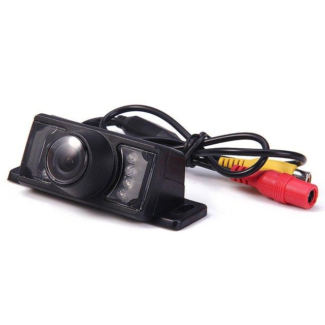 Clássico COMS Barragem Curto Moldura Da Placa de Licença Do Veículo Câmera de Visão Traseira Reversa À Prova D' Água Câmera de Visão Noturna Veículo Condução Segura