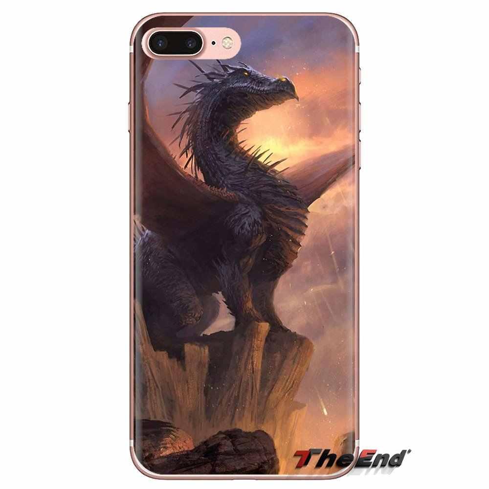 Para Huawei Nova 2 3 2i 3i Y6 Y7 Y9 primer Pro GR3 GR5 2017, 2018 de 2019 Y5II Y6II suave funda transparente con dibujos animados de dragón