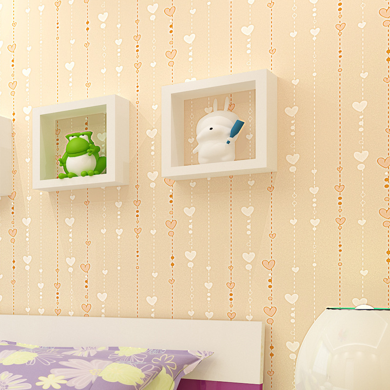 Wall Paper Stripes For Wall Kids Room Desktop Wallpaper Murals modern papel de parede roll striped pink heart for kids or baby beautiful net color decorative pattern design of modern household wall paint murals background wallpaper with high quality papel