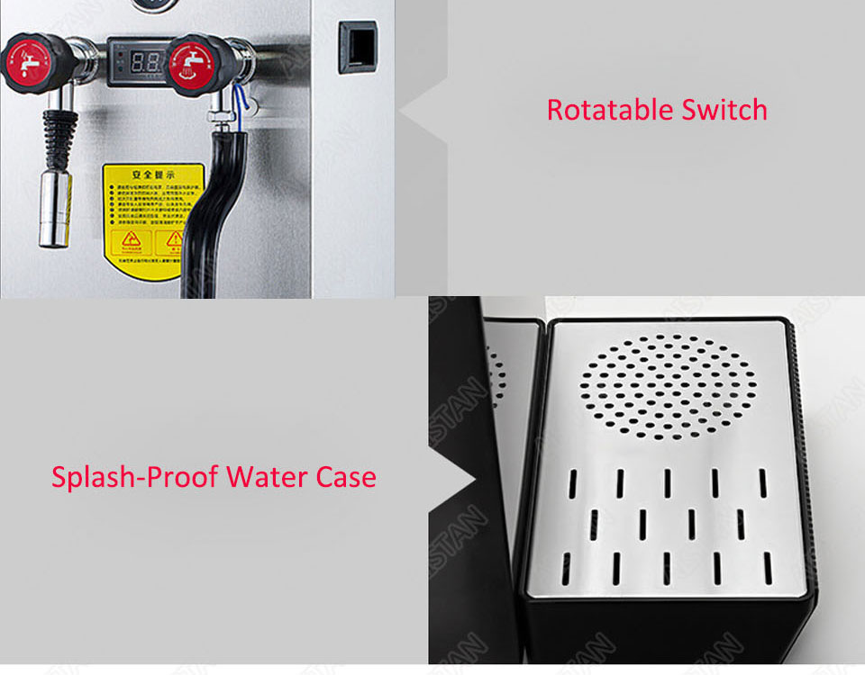 RC800 Commercial stainless steel Water Boiling Machine electric multifunctional steam water boiler for bar 220V 23