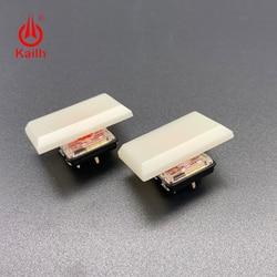 Kailh 1.5u baixo perfil keycaps 1350 interruptor de chocolate creme especial branco para jogos diy teclado mecânico abs material 30 pçs
