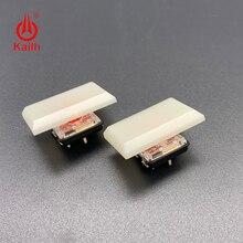 Kailh teclas de bajo perfil 1.5u interruptor de chocolate 1350, blanco crema especial para juegos, Teclado mecánico DIY, material ABS, 30 Uds.