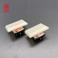 Teclas Kailh 1.5u de bajo perfil 1350 chocolate interruptor especial blanco crema para juegos DIY Teclado mecánico material ABS 30 Uds