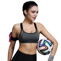 Vertvie Women Fitness Yoga Sports Bra Padded Push Up Breathable Gym Bra Sujetador Brasieres Deportivos Soutien