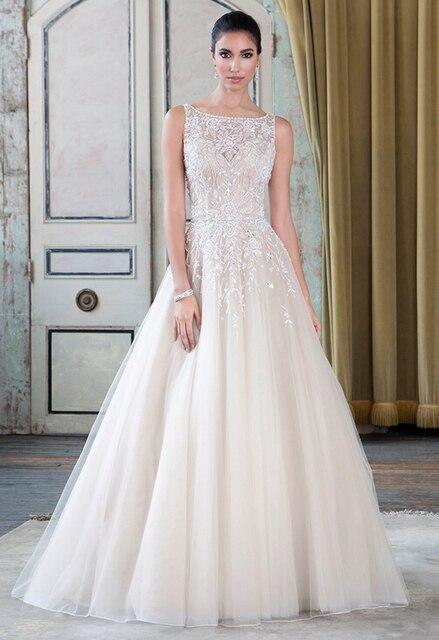 blanco de baratos vestidos vestido boda novia escarpado scoop qvs4wa