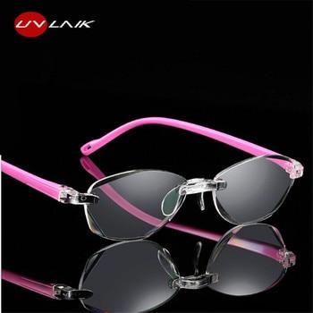 40cb157392 UVLAIK óptica gafas de lectura sin marco de los hombres y las mujeres sin  montura gafas de los lectores de presbicia mayor gafas de 1,5, 2,0, 2,5, ...