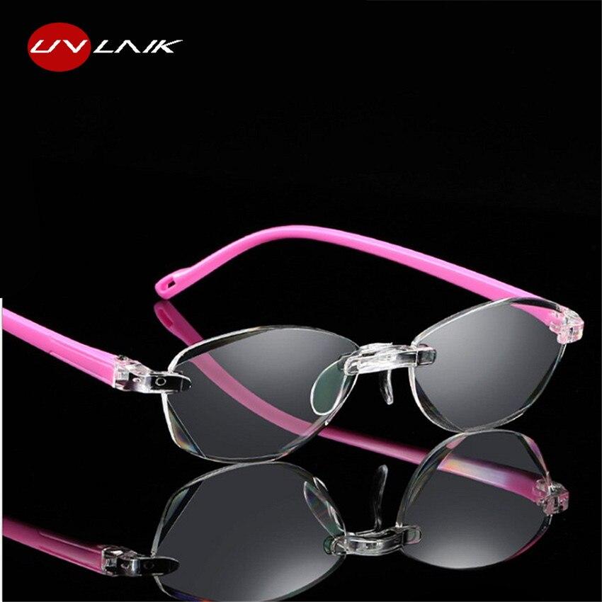 UVLAIK Optical Reading Glasses Frameless Frame Women Men Rimless Glasses Readers Presbyopic Older Eye Glasses 1.5 2.0 2.5 3.0