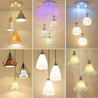 Artpad Vintage Diamond Modern Pendant Light Glass Shade 3 Lamps Nordic Pendant Lights For Dining Room