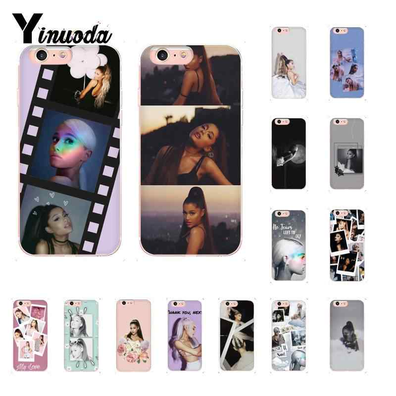 Yinuoda Ariana grande TPU ยางนุ่มสำหรับ iPhone X XS MAX 6 6s 7 7plus 8 8Plus 5 5S SE XR 10 11 11pro 11promax