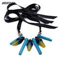 Mnaerson Declaración de Múltiples Capas Collar Con Cadena de La Cuerda de Acrílico Collar Collier Femme Bijoux Para Las Mujeres Maxi Boho Joyería