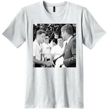 de2bd05d2d New Publiciteez 16 Year Old Bill Clinton Meets JFK Photo T-shirt fashion  short sleeved