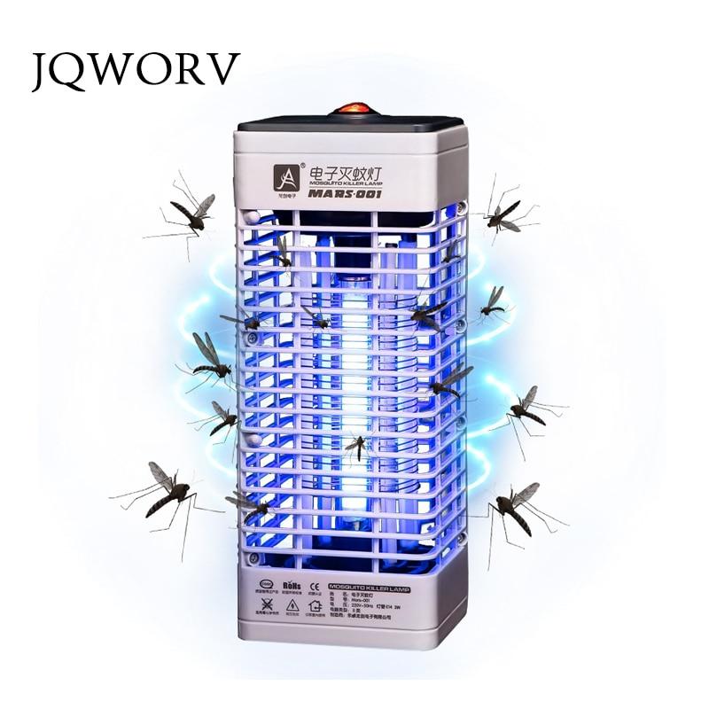 JQWORV Upgraded Electronics Mosquito Killer Trap Moth Fly Wasp Led Night Lamp Bug Insect Light Black Killing Pest Zapper  CNPlug