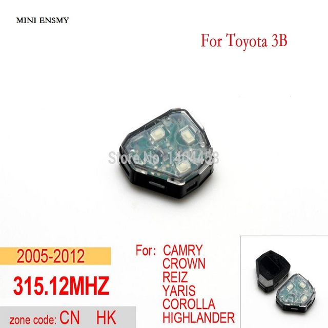 High Quality Toyota Camry Key Replacement Transponder Car Key Remote
