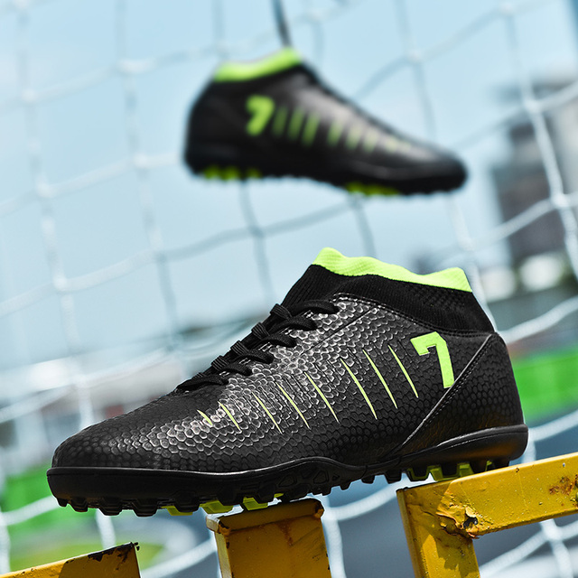 Football Boots Football Shoes New Adults Men's Outdoor Soccer Cleats High Top TF/FG Training Sports Sneakers Large Size 33 - 45