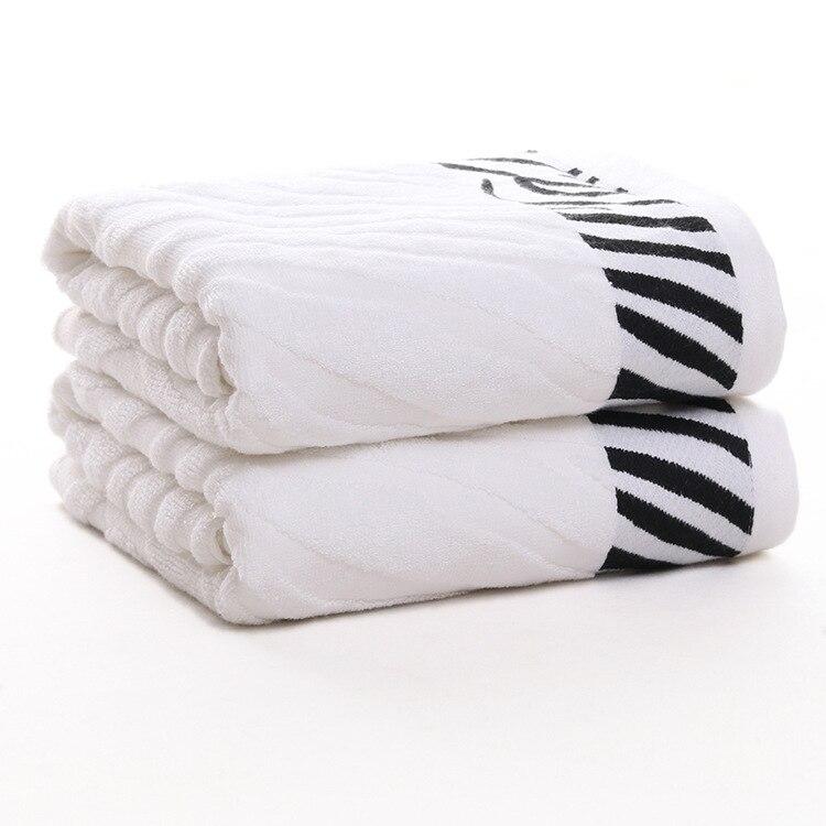 Blanc rayé ensemble de serviettes 100% coton grande serviette de plage marque absorbant à séchage rapide serviette de bain 1pc serviette de bain 2 pièces serviette de visage