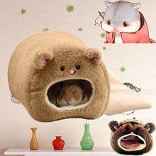 Теплая кровать гамак для крысы белка зимняя игрушка для домашних животных хомяк клетка дом подвесное гнездо+ коврик