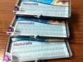 Caixas 3 tamanho D-chicote chicote encantador azul naturals permanente cílios naturais cílios de seda indivíduo cílios ondulação