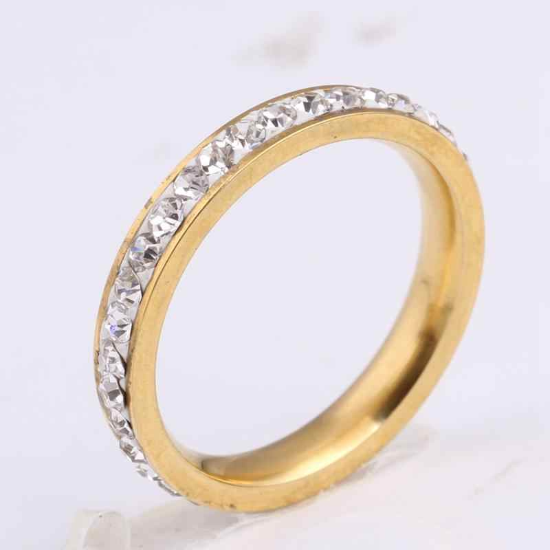 Fashion Woman Ring High Quality Crystal Ring Simple Classical Crystal Engagement Couple Jewelry Wedding Ring