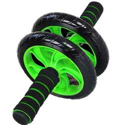 Muscle double wheeled updated abdominal wheel ab roller gym fitness equipment.jpg 250x250