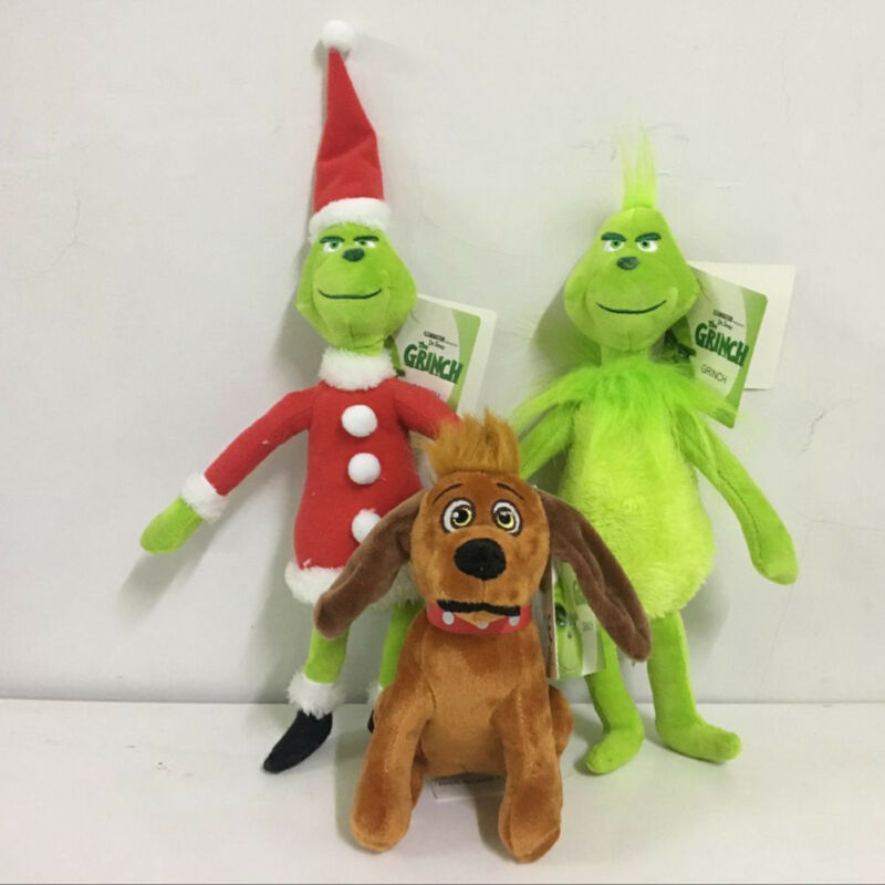 Christmas Grinch Dolls Stuffed Plush How Grinch Stole Grinch Dolls Kids Toys Xmas Gifts