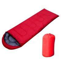 JHO Outdoor Waterproof Travel Envelope Sleeping Bag Camping Hiking Carrying Case Red