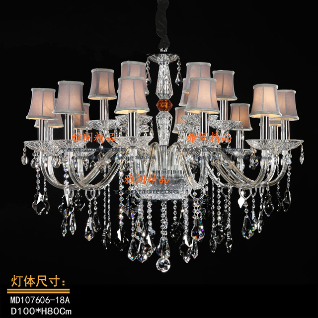 US $897.83 |Modern Europe Crystal pendant lights Plated candle lamp Parlor  study Master bedroom other bedroom lamps incandescent bulbs -in Pendant ...