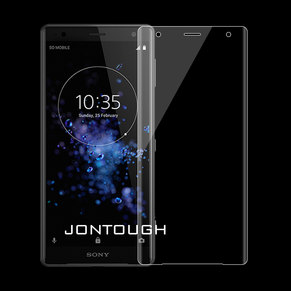 for SONY XZ2 COMPACT screen protector XA2 ULTRA tempered glass 3D full cover case friendly bubble free accessaries