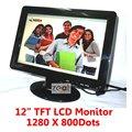 "12 ""TFT ЖК-Монитор 1280 х 800 Пикселей 16:10 + VGA Кабель + Адаптер Питания"