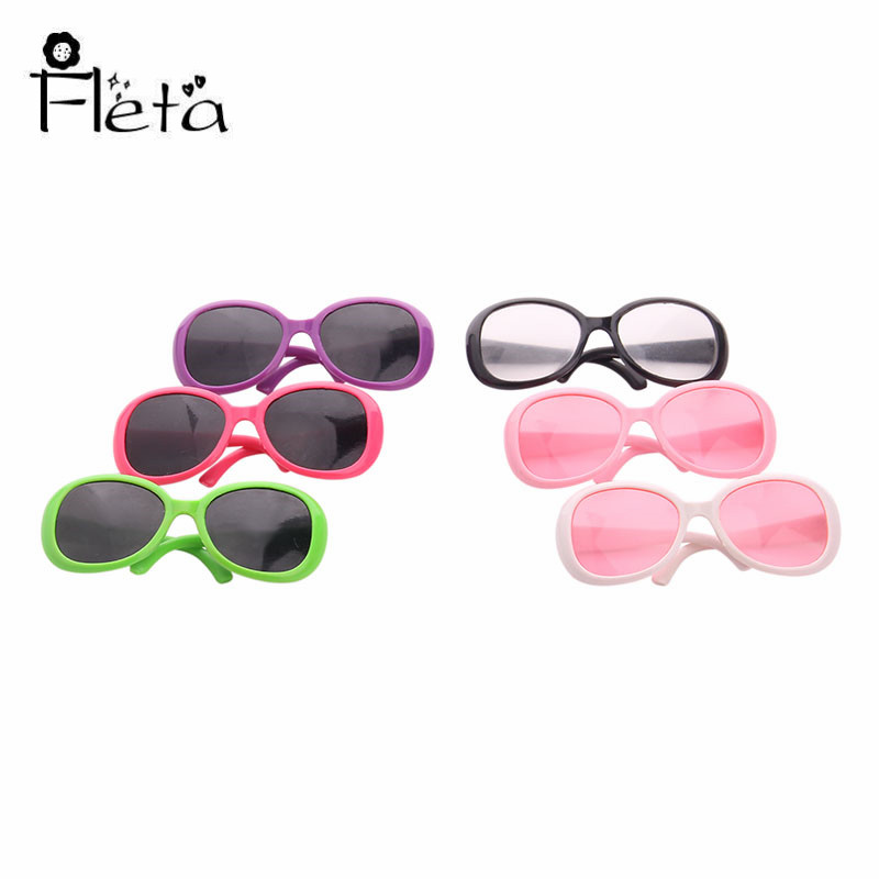 Doll Sunglasses Accessories Fit 18 Inch American Doll&43 Cm Born Baby Our Generation Of Christmas Birthday Girl's Toy  Gift
