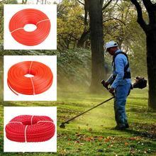 3 мм, 70 м, газонокосилка, нейлоновая веревка, триммер для травы, линия для триммера, стриммер, кусторез, шнур, круглый/квадратный рулон, линия для газонокосилки