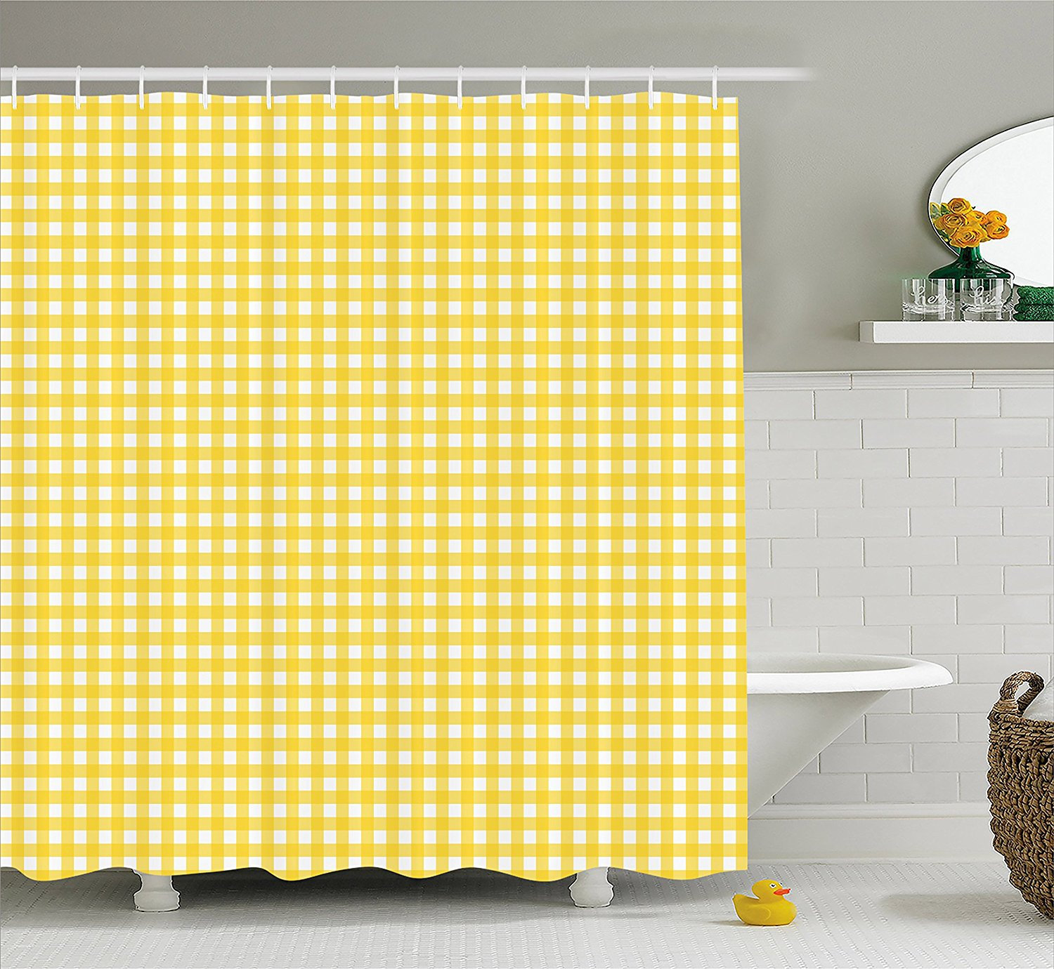 red white plaid fabric curtains blue checkered kitchen curtain country design shower love and