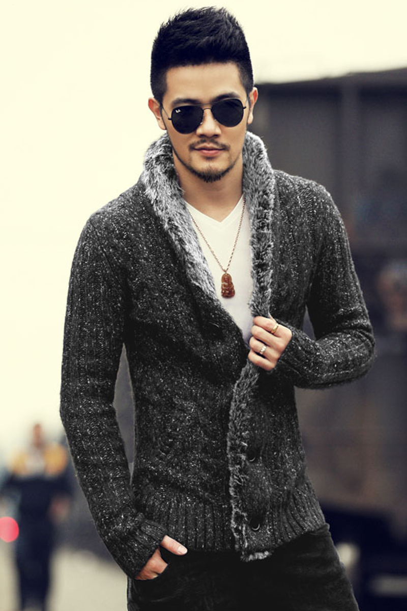 2017 New Arrival font b Men s b font Fashion Solid Thick Warm font b Sweater