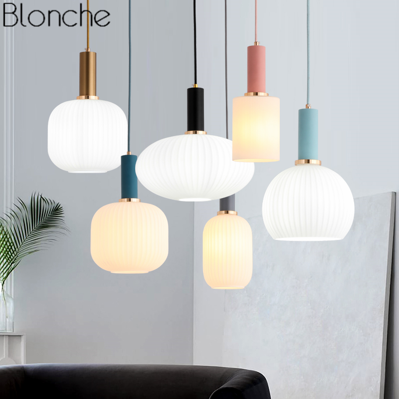 Nordic Modern Glass Pendant Lights Loft Industrial Hanging ...