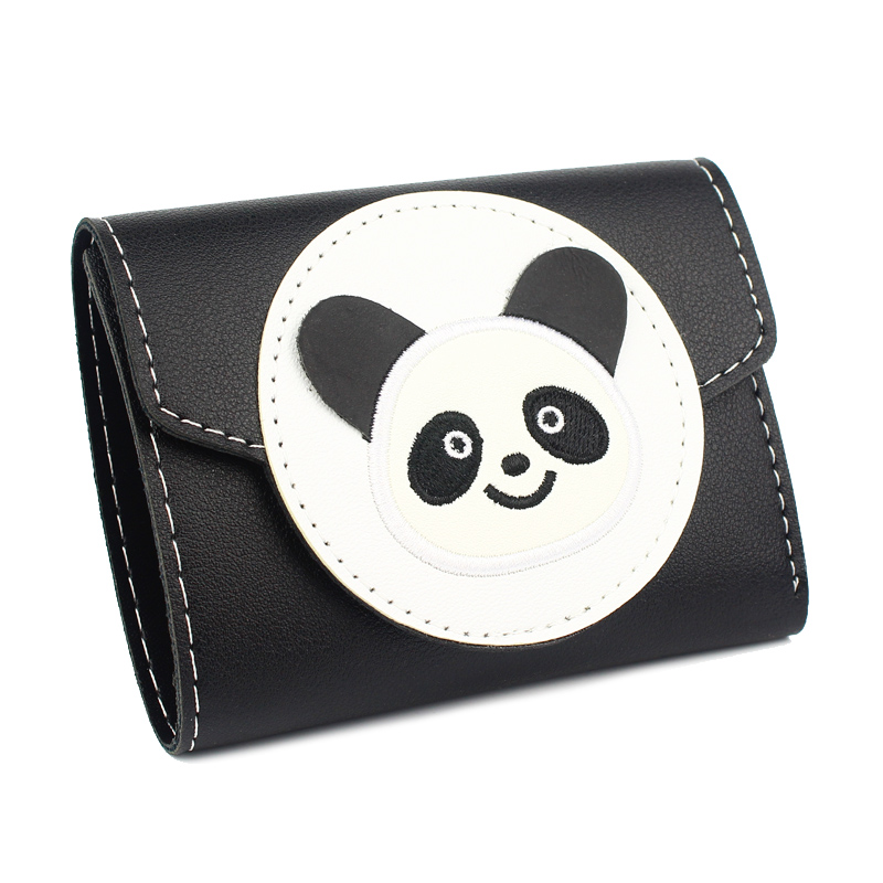 Short Purses Women Wallets Clutch Coin Purse Cartoon Panda Woman Wallet Fold Cards ID Holder Moneybag Pocket Notecase Mini Pouch canvas male purses wallet cards id holder mens short wallets hasp zipper money bags change coin purse fold pocket notecase bag