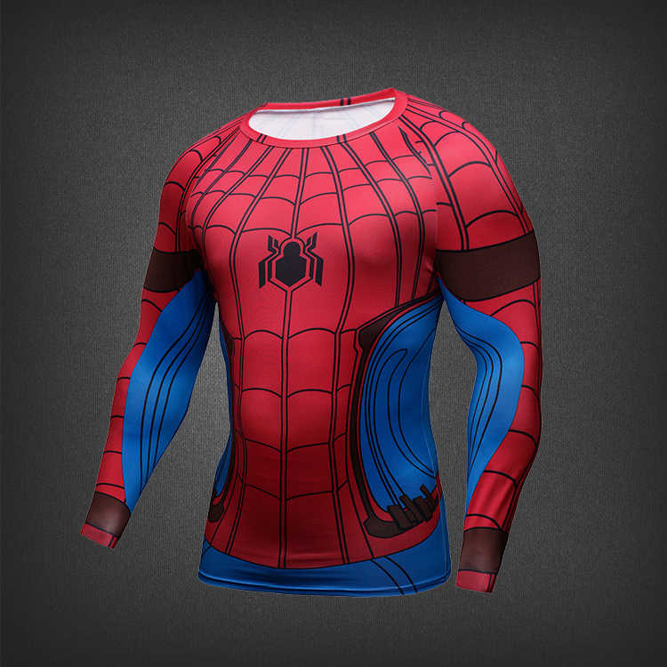 7c422e34 ... 2017 Hot Movie Spiderman Homecoming Peter 3D printed Quick Dry Tights  cosplay pullover & t- ...
