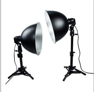 lighting photography studio Professional 27cm camera set lamp small stands e27 single lamp aluminum cover video light set CD50 latour 2400 led photography lighting dms 5600k studio video camera stage light lamp