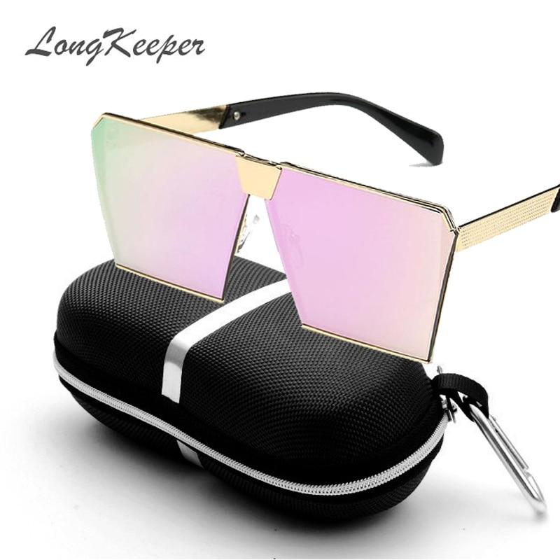 LongKeeper Nya färger Kvinnor Solglasögon Unika Oversize Shield - Kläder tillbehör - Foto 6