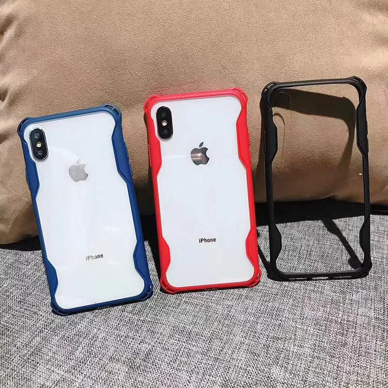 Phone Accessories Luxury Armor Waist Frame 2 In 1 Case For Iphonex